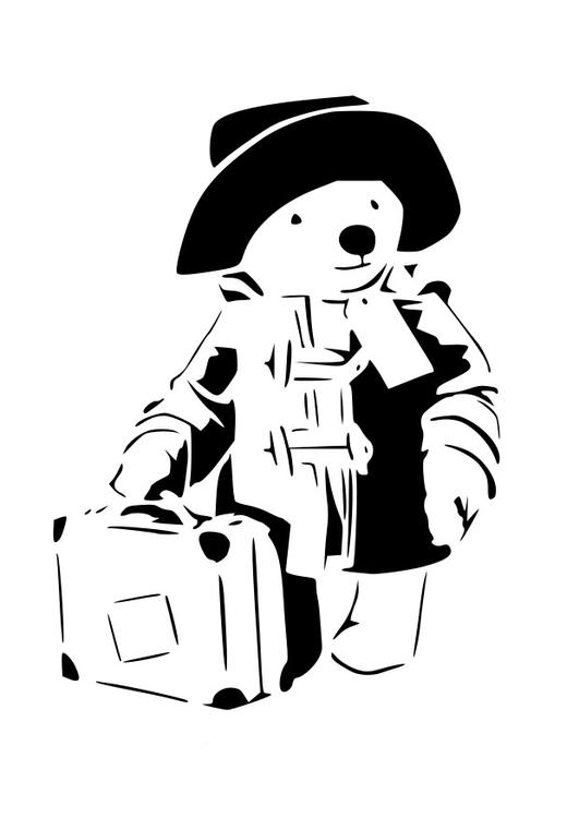teddy bear goes travelling