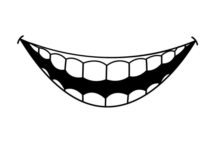 Coloring Page teeth - free printable coloring pages