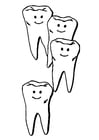 Coloring pages teeth