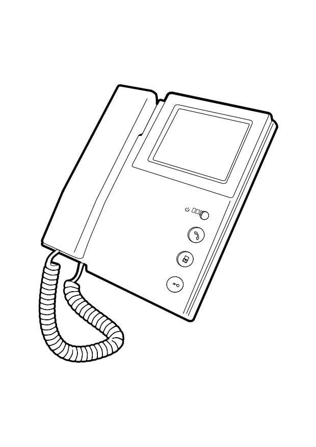 Kleurplaten Radip Coloring Page Telephone Img 28293 Images