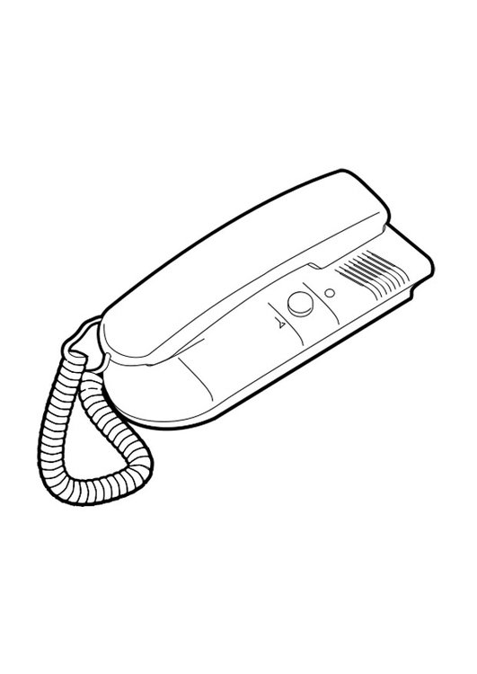 Coloring page telephone