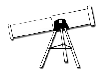 Coloring page telescope