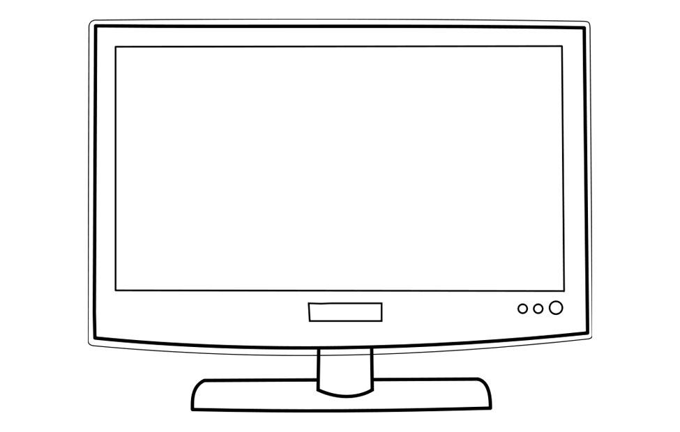 Coloring page television img 22723