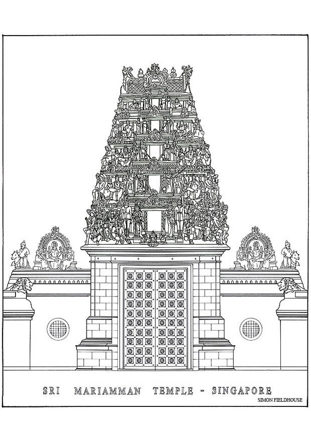 Coloring Page Temple Img 18678