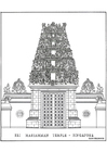 Coloring page Temple
