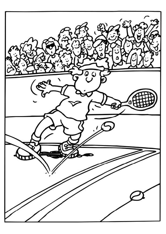 Coloring page tennis
