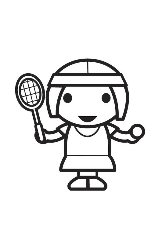 Coloring page Tennis Player