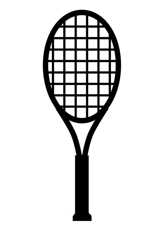 Coloring page Tennis Racket