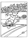 Coloring pages tennis