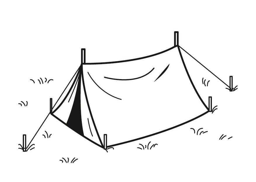 Coloring page tent - img 23351.