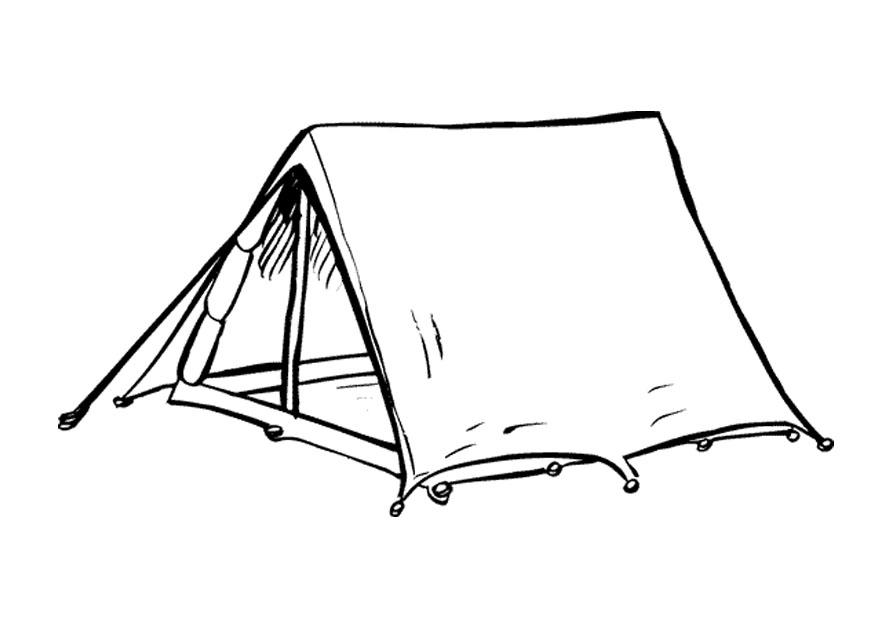 Coloring page tent - img 9654.