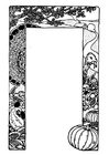 Coloring page Thanksgiving frame