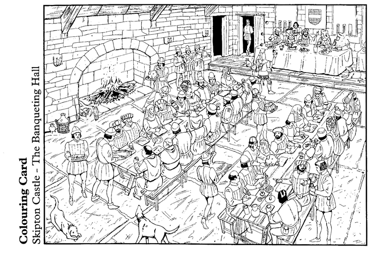 Coloring page The Banqueting Hall
