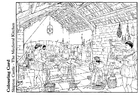 Coloring page The medieval kitchen