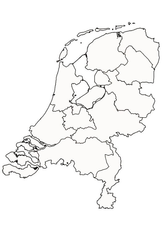 Coloring page the netherlands