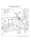 Coloring pages The Tortoise and the Hare