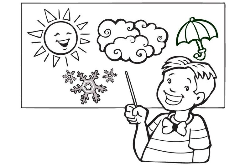 Coloring page the weather