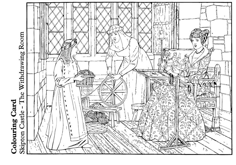Coloring page The Withdrawing Room
