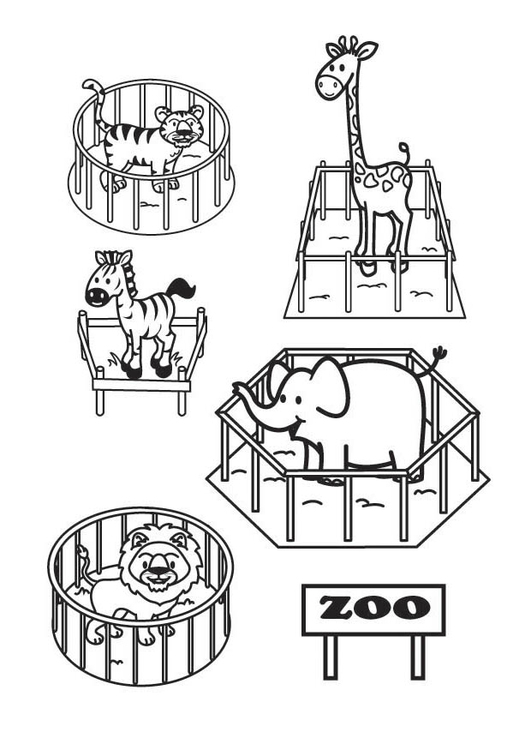Coloring page The Zoo