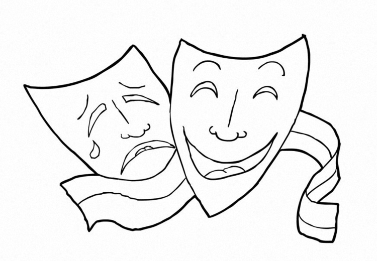 Coloring page Theatre -  performing arts