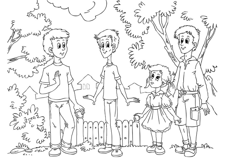 Coloring page thin