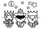 Coloring pages three magi