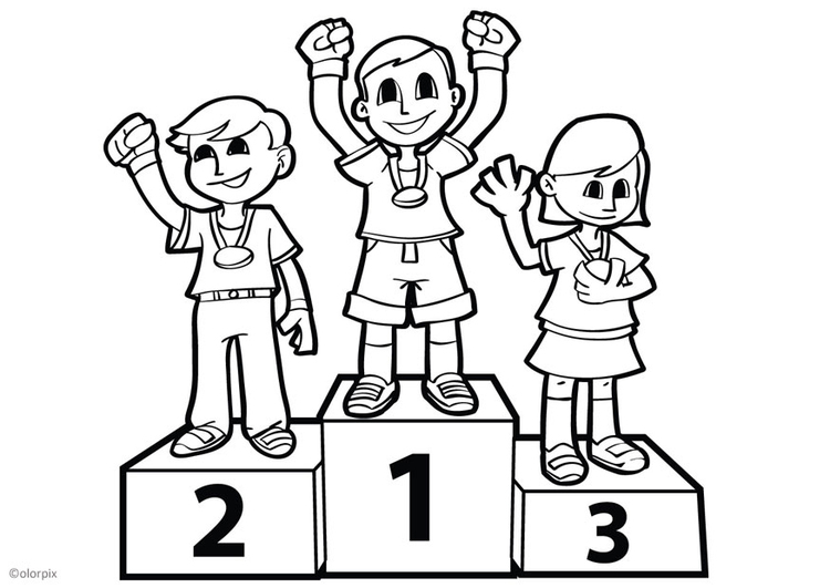 Coloring page three-tiered rostrum