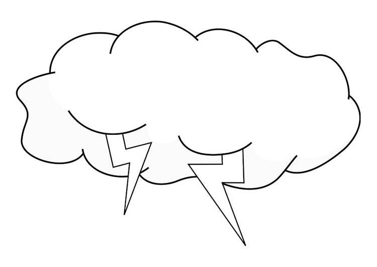 Coloring page thundercloud