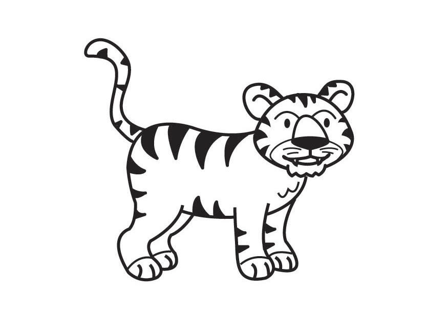 Coloring page Tiger - img 17818.