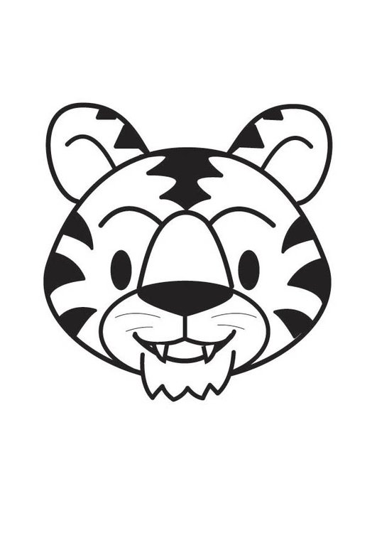 Coloring page Tiger Head