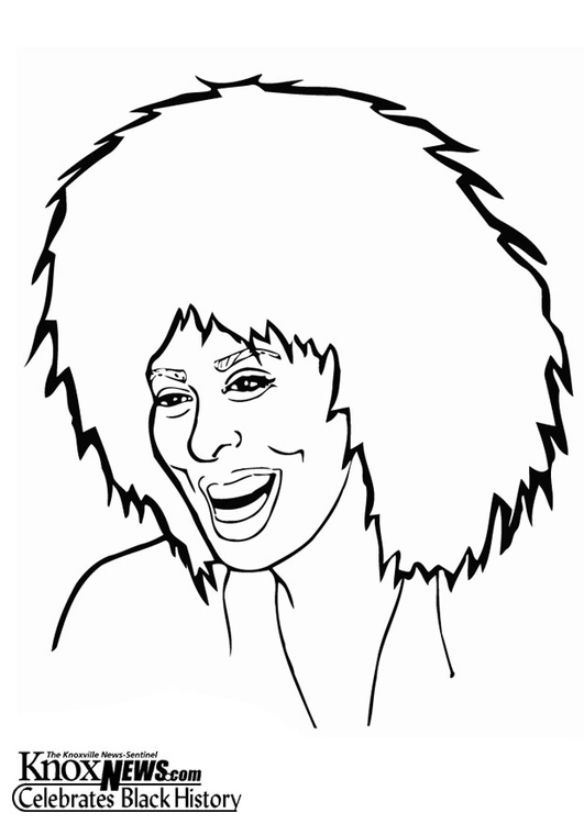 Coloring page Tina Turner