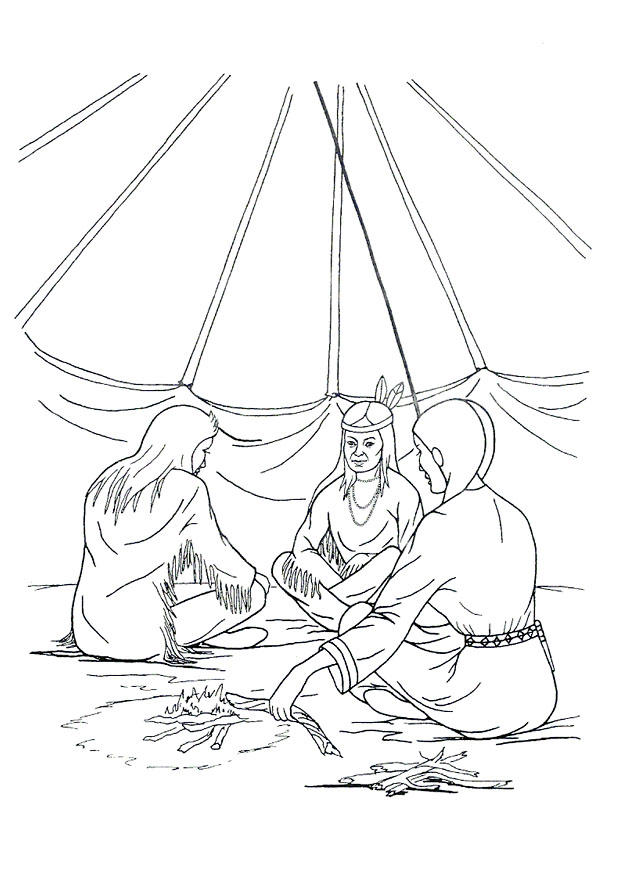 native american tipi coloring pages - photo#15