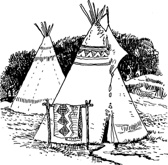 Coloring page Tipi