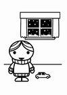 Coloring page to be energy effcient, wear a warm sweater in winter