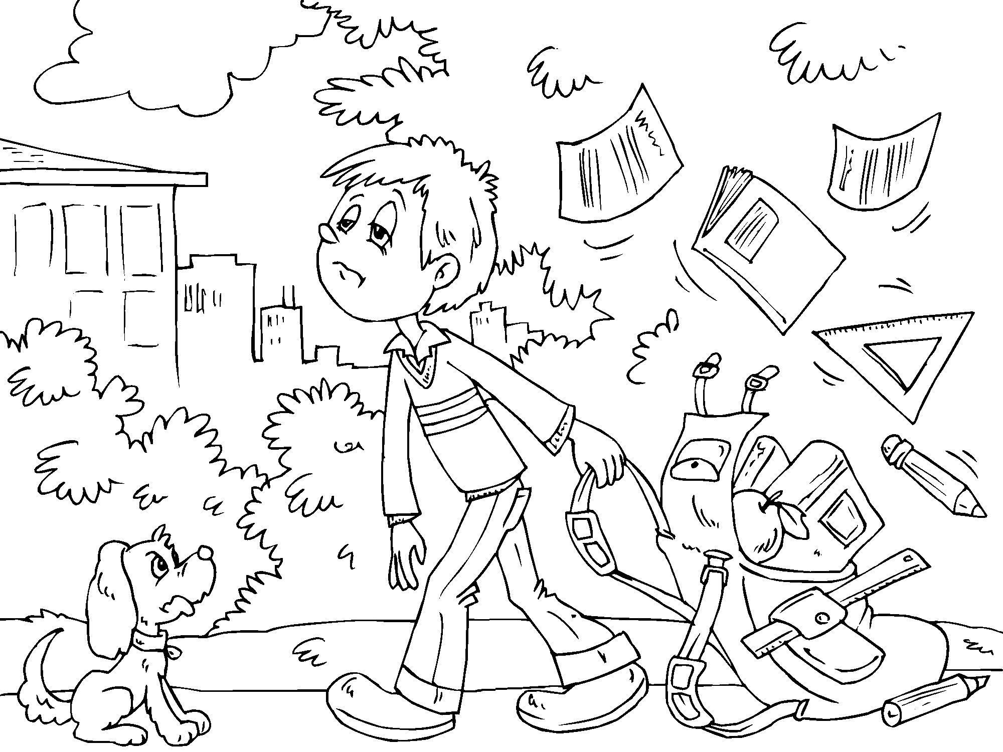 Раскраски плохие поступки детей 156