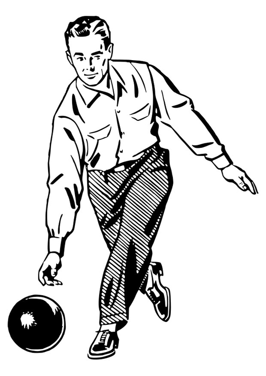 Coloring page to bowl