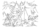 Coloring page to camp