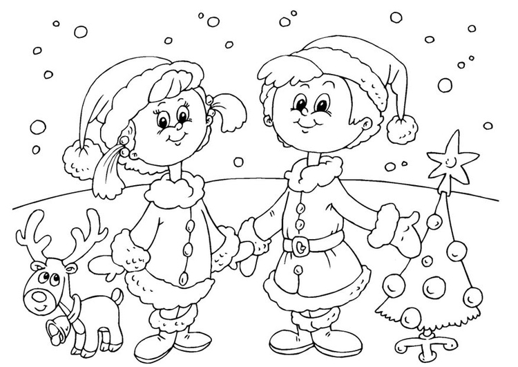 Coloring page to celebrate Christmas