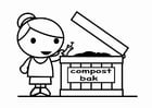 Coloring page to compost