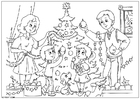 Coloring pages to decorate the Christmas tree