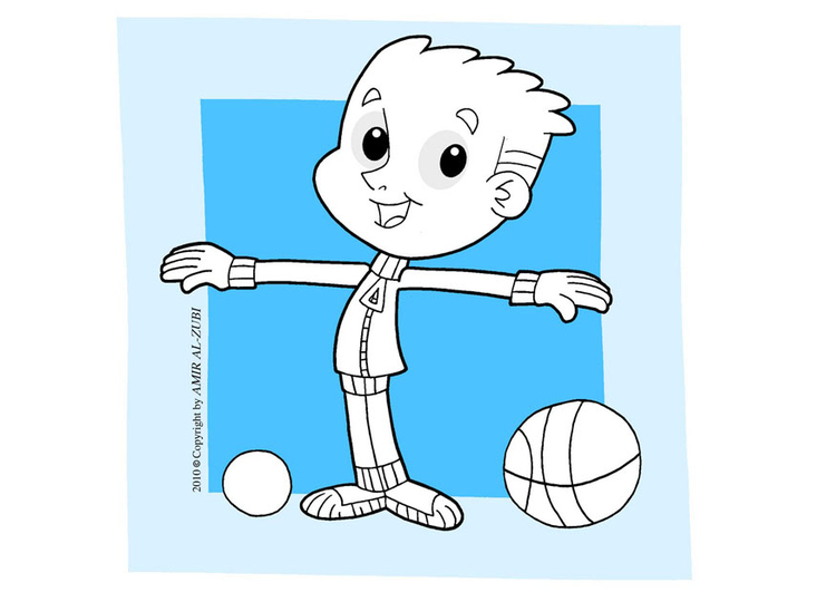 Coloring page to do sports