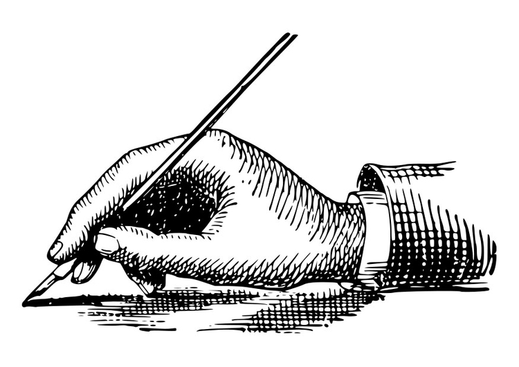 Coloring page to hold a pen