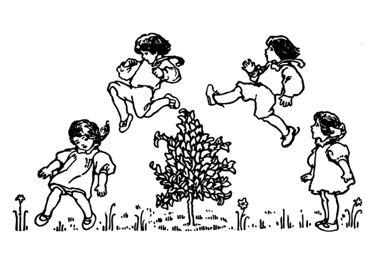 Coloring page to jump