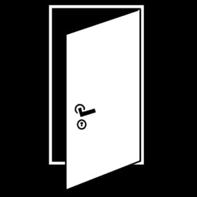 Coloring page to open the door