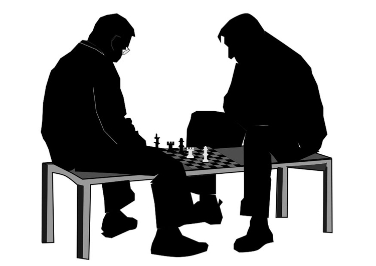 Coloring Page To Play A Game Of Chess