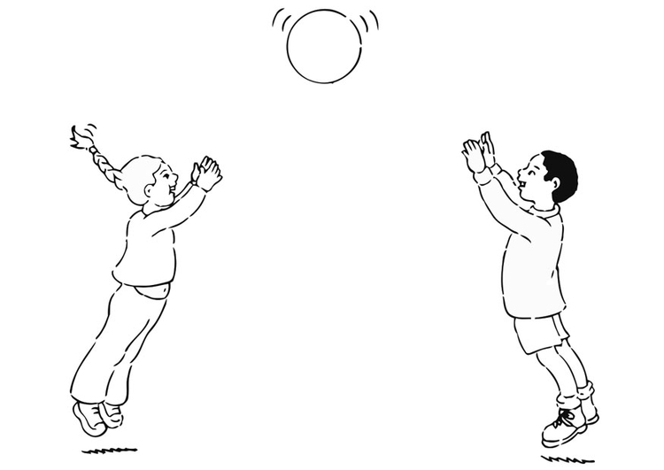 Coloring page to play ball