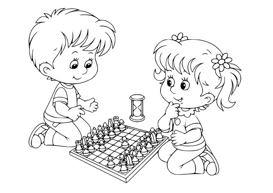 chess coloring pages downloads - photo#24