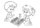 Coloring pages to play chess
