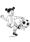 Coloring pages to play football