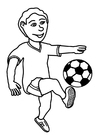 Coloring page to play football